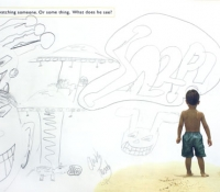 fotoplay-boy-beach-graffitti