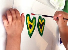 painting hearts marcie bronstein