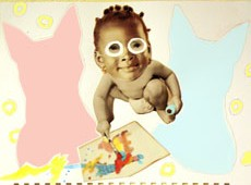 M J Bronstein Fotoplay Baby Paint Art
