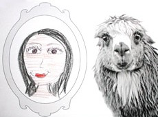 fotoplay m j bronstein self portrait llama