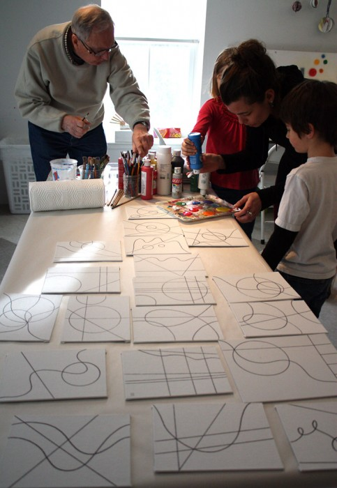 MJ Bronstein CMCA ArtLab Geometric painting 10