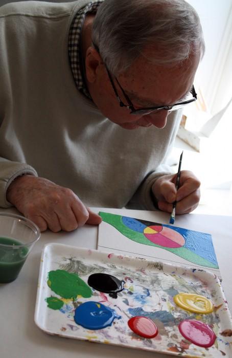MJ Bronstein CMCA ArtLab Geometric painting 6