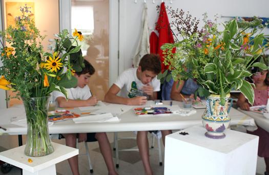 CMCA ArtLab M J Bronstein printed flowers 5
