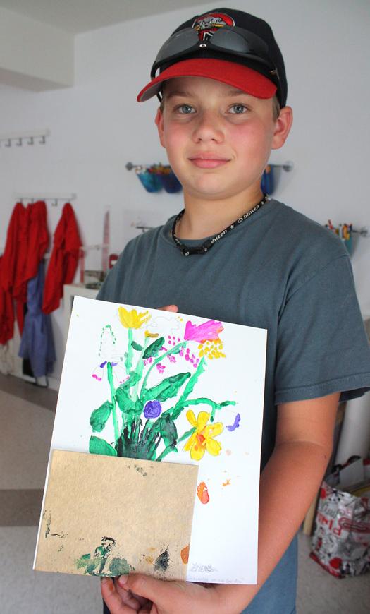 CMCA ArtLab M J Bronstein printed flowers 7