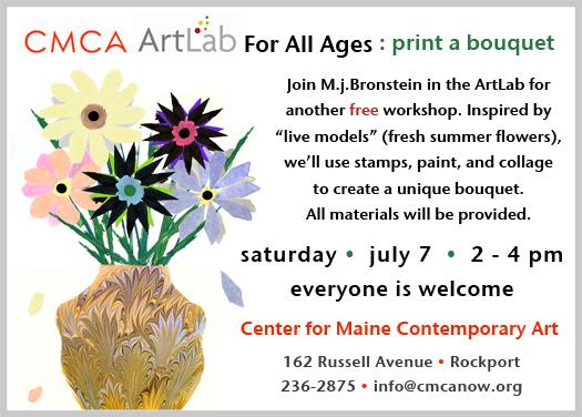 CMCA ArtLab M J Bronstein printed flowers