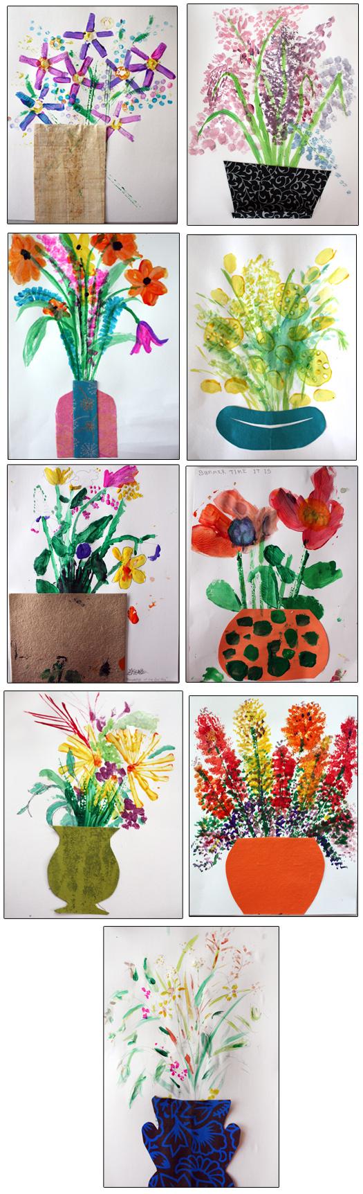 M J Bronstein Artlab printed bouquet cmca 1
