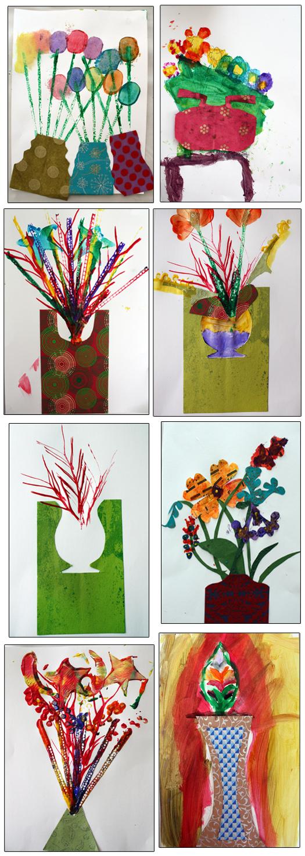 M J Bronstein Artlab printed bouquet cmca