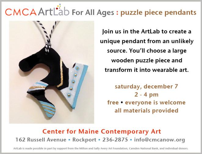 CMCA ArtLab Bronstein-puzzle piece pendant