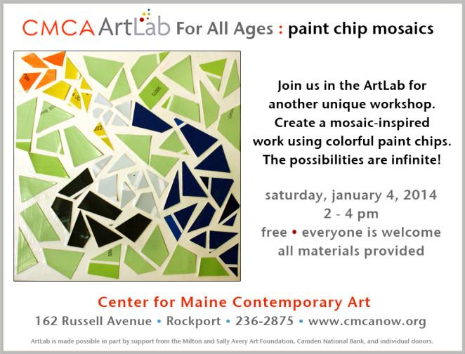 CMCA ArtLab Bronstein- paint chip mosaics