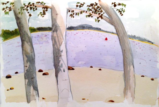 Belfast, Maine, Marcie j Bronstein-watercolor