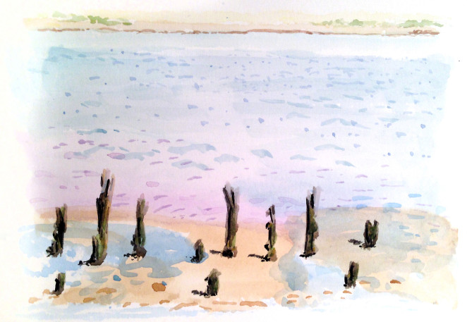 M.J. Bronstein_Belfast, Maine_watercolor-paint
