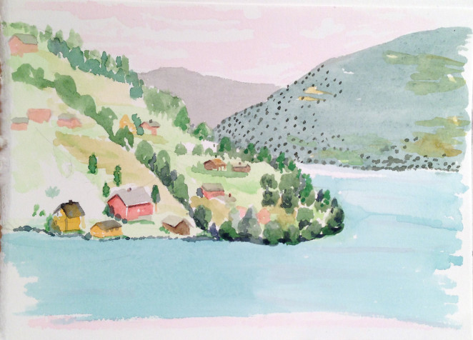 marcie bronstein-watercolor-norway