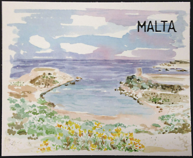 m j bronstein-malta-watercolor