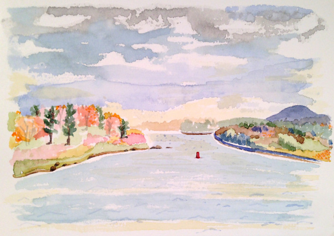 M_J_Bronstein_watercolor_Autumn_Maine