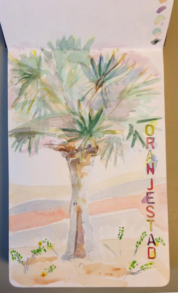 Aruba-oranjestad-M.J.Bronstein-watercolor