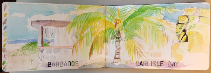 Barbados-M.J.Bronstein-watercolor