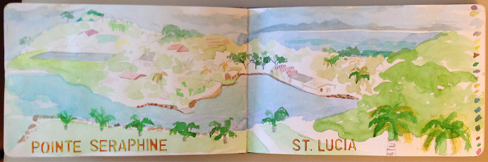 St. Lucia-marcie-Bronstein-watercolor