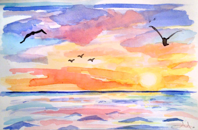Marcie-j-bronstein-watercolor-sunset